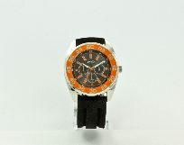 Uhr Black-Night orange